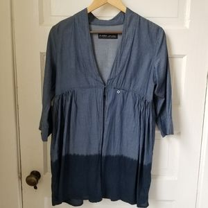 NWOT Fade to Blue ombre chambray tunic size xs